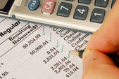 Check the monthly bank statement — Stock Photo