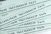 A pile of bank checks — Stock Photo