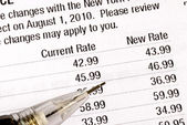 Notify the customers about the rate increases — Stock Photo