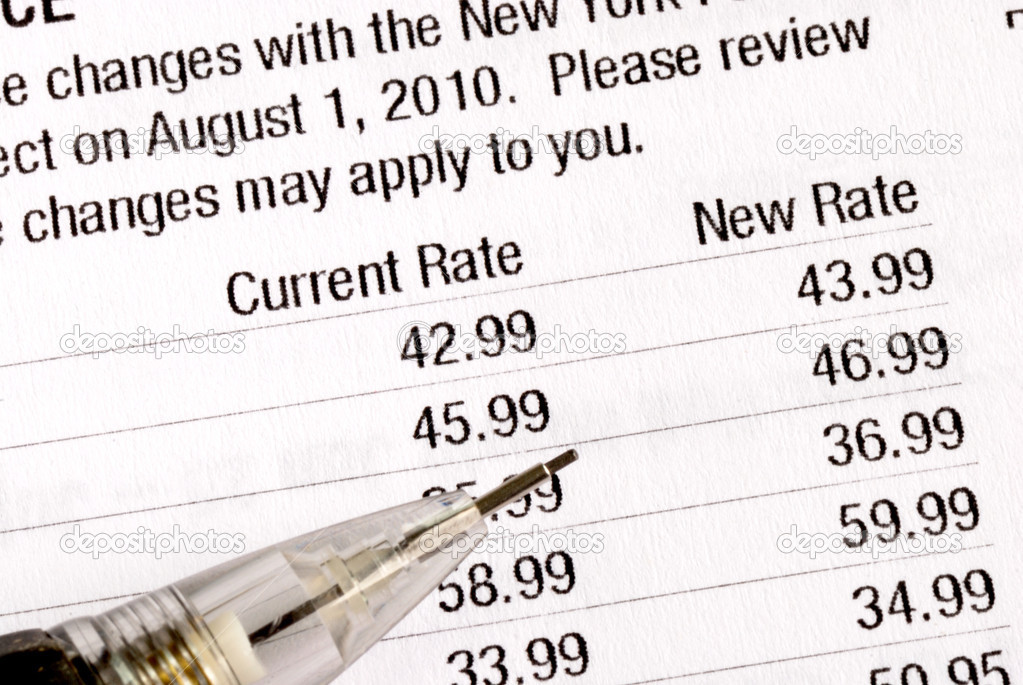 Notify the customers about the rate increases — Stock Photo #3554233