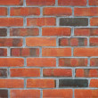 Close up view of a red brick wall — Photo