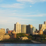 Downtown Brooklyn skyline in New York City — Stock Photo