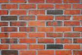 Close up view of a red brick wall — Stock Photo