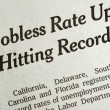 Foto de Stock  : Jobless rate is up and hitting record concepts poor economy