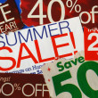 Various summer sale signs concepts of deep discount — Stock Photo