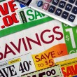 Foto de Stock  : Cut up some coupons to save money