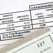 Pay the medical bill concepts of rising medical cost — Stock Photo