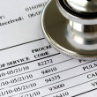 Bill from the doctor concepts of rising medical cost — Stock Photo