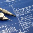Close up view of blue print — Stockfoto #3571950