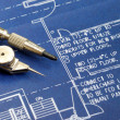 Stock Photo: Close up view of blue print