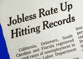 Jobless rate is up and hitting the record concepts poor economy — Stock Photo