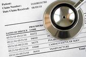 Bill dos conceitos do aumento do custo médico médico — Foto Stock