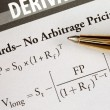 Stock Photo: Study advanced level financial mathematical formula