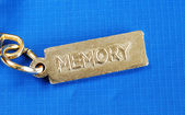 Keychain with the word Memory concepts of dementia or lost memory — Stock Photo