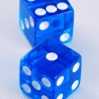 Gambling with dices concepts of taking risk — 图库照片