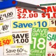 Cut up some coupons to save money — ストック写真 #3614913