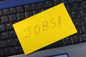 Concepts of searching for a job online — Stock Photo