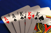 Poker cards concepts of gambling or taking a risk — Stock Photo