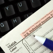 Filing the income tax return online is easy — Stock Photo