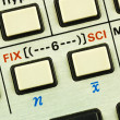 Function keys in a scientific calculator concepts of education — Foto de Stock