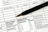 Wypełnij formularz zamówienia pojęcia dokonywanie zakupu — Zdjęcie stockowe