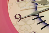 Clock hands pointing to number Nine — Stock Photo
