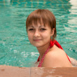 Beautiful girl swimsuit in pool - Stock fotografie
