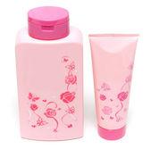 Två rosa flaskor — Stockfoto