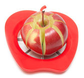 Red apple and special knife — Stock Photo