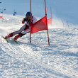 Foto Stock: Competitions on mountain ski