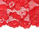 červená krajka红色蕾丝 — 图库照片