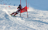 Competitions on mountain ski — Stock Photo