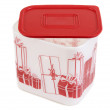 Plastic container with red lid — Stock Photo