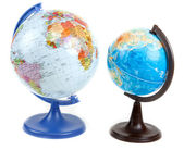 Two globes — Stock Photo