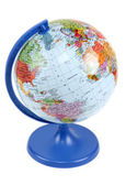 Globe on blue — Stock Photo