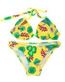 Feminine yellow swimsuit — Stock Photo