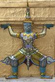 Statua colorata tailandese — Foto Stock