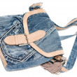 Stock Photo: Feminine jeans bag
