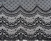 Decorative black lace — Stock Photo