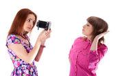Two beautiful girls to pose — Stock Photo