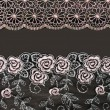 Collage lace with pattern in the manner of flower — Stock Photo