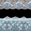 Stock Photo: Collage lace with blue pattern in manner of flower
