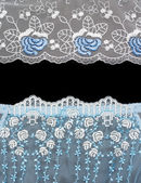 Collage lace with blue pattern in the manner of flower — Stock Photo
