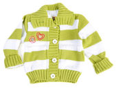 Baby sweater striped with green strip — Stock Photo