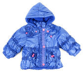 Blue baby jacket insulated — Stock Photo