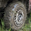 Royalty-Free Stock Photo: Muddy car tire