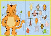 Photo frames for children group — Stock Vector