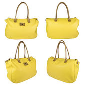 Yellow leather bag — Stock Photo