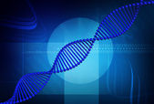 DNA blue — Stock Photo