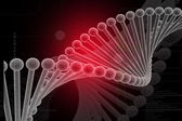 DNA red — Stock Photo